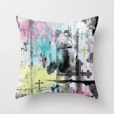 Pop Crusade Throw Pillow | Laura Luchtman, Kukka Design