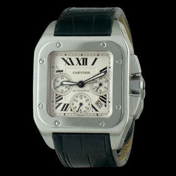 CARTIER - Santos 100 XL Chronographe #nouveauté #cresus #montres http://www.cresus.fr/montres/montre-occasion-cartier-santos_100_xl_chronographe,r2,p24026.html