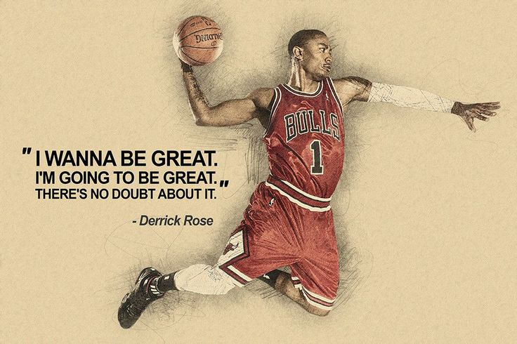 Derrick Rose I Wanna Be Great Quotes NBA Basketball Sayings Poster