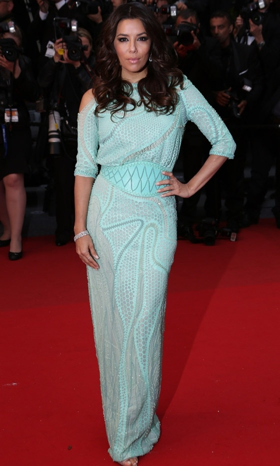 Eva Longoria At The Premiere Of 'Jimmy P. Psychotherapy of Plains Indian' At Cannes Film Festival, 2013