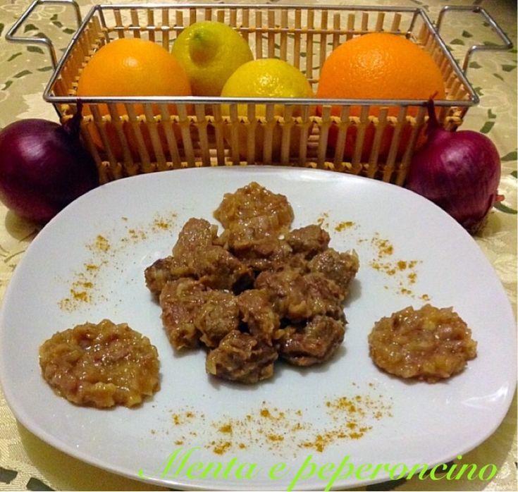 Ricetta Spezzatino di manzo agli agrumi con cipolle rosse