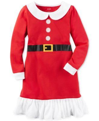 Carter's Santa Sleep Shirt, Little Girls (2-6X) & Big Girls (7-16)
