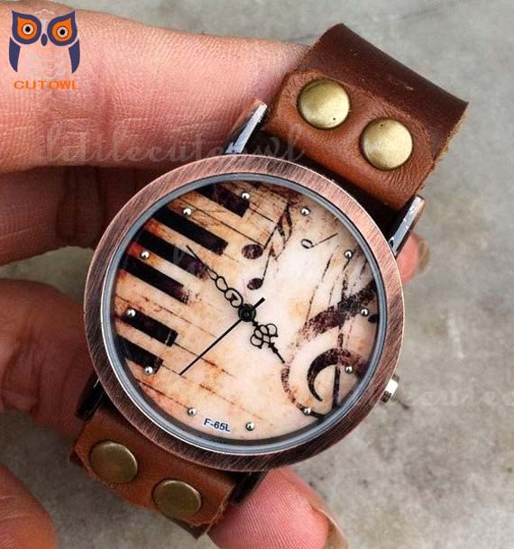 Retro style watchPiano patter wrist watch by littlecuteowl on Etsy, $16.99