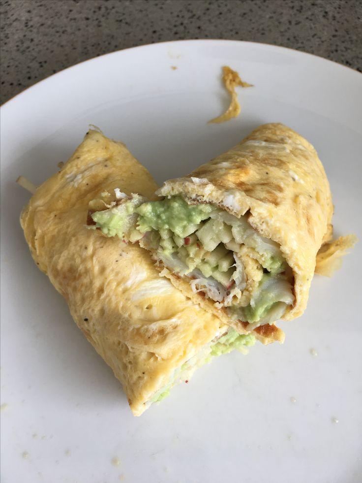 Wrap van omelet met heilbot, avocado & appel (Dagelijkse Kost)
