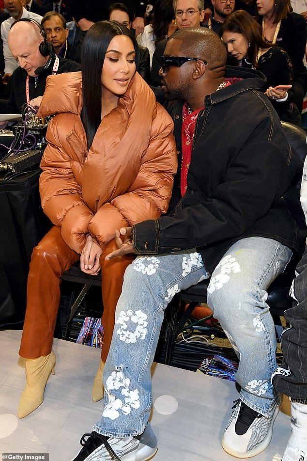 Kim Kardashian And Kanye West Kiss Courtside At Nba All Star Game