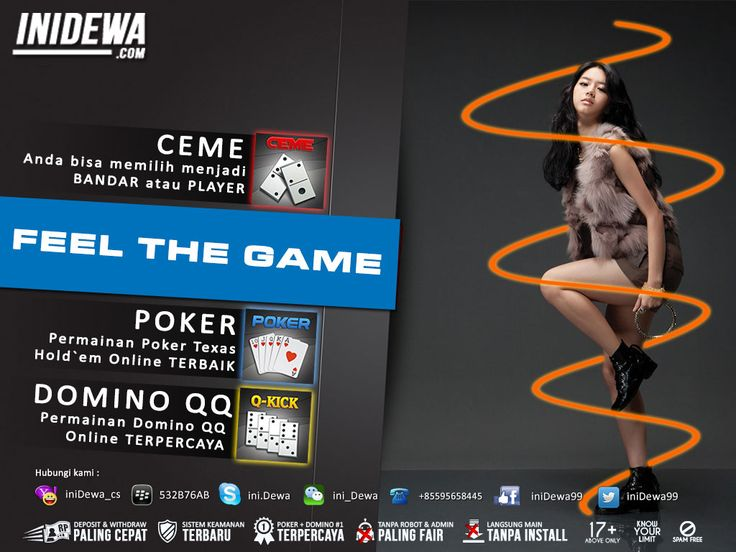 iniDewa - Judi Poker, Domino dan Bandar Ceme Online Terpercaya dan Terbaik di Indonesia