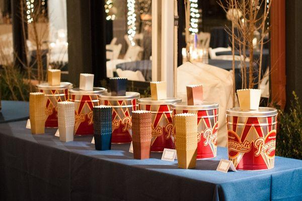 Popcorn at your wedding! A Rustic-Chic Winter Themed Wedding in North Carolina - Munaluchi Bridal Magazine