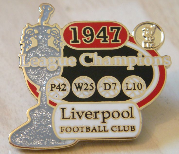 LIVERPOOL FC Victory Pins 1947 LEAGUE CHAMPIONS Badge Maker Danbury Mint FOR SALE • £9.99 • See Photos! Money Back Guarantee. New Danbury mint victory pin. Please check out my other Liverpool badges THE ITEMS WE SELL We only sell used items so some may show signs of use or the 122093439620