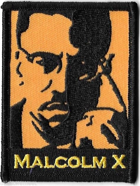 Malcolm X Patch Iron-On Applique Badge Civil Rights Artist Dave Cherry    eBay