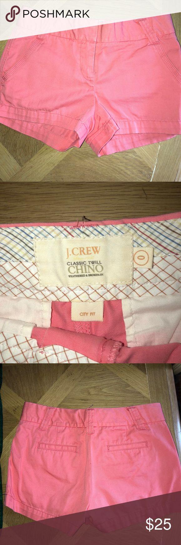 J. CREW Peach shorts- size 0 Size 0 Excellent condition J. Crew Shorts