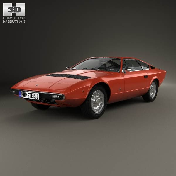 Maserati Khamsin 1977 3d model from humster3d.com. Price: $75