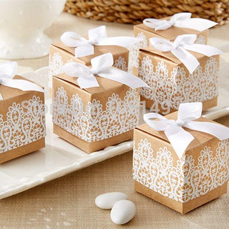 10pcs sweet lovely decoration candy box paper boxes gift box rustic u0026 lace kraft favor box wedding