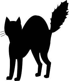 halloween black cat silhouette clipart panda free clipart images - Black Cat Halloween Decorations