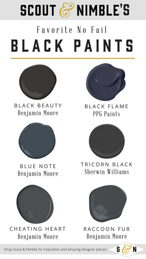 Get It Right with Our Top 5 No-Fail Black Paint Colors for 2018