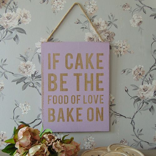 A lovely humorous hanging wall sign. Perfect for a friend who loves baking!