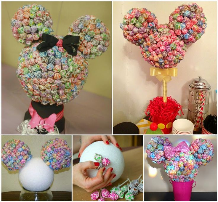 This Minnie Mouse Lollipop Tree will be the highlight of your party table and it's so easy to make!      Image Source     Click HERE for th...