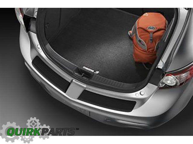 2010-2012 Mazda3 5 Door Black Cargo Mat w/ Logo OEM NEW Genuine #0000-8B-L62 - Mazda (0000-8B-L62)