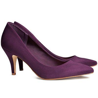Love these purple, kitten heel babies