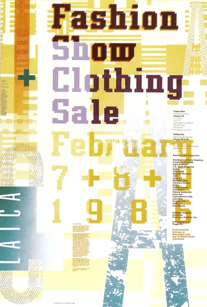 April Greiman  1986 (Digital Revolution) poster for the Los Angeles Institute of Contemporary Art