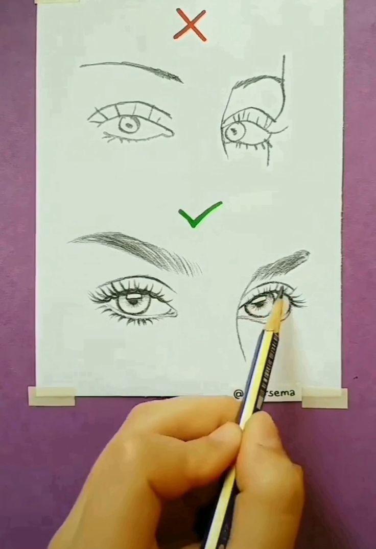 drawings pencil drawing easy step brows eye realistic skillofking drawingtutorial drawingtips colorful zeichnen sketches kunst ideen doodle draws eyes sketchbook