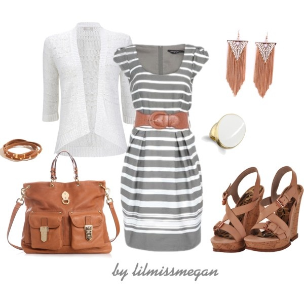 Cute: Brown Casual, Casual Dress Outfits, Casual Dresses Outfits, Color Combos, Cute Dresses, Casual Outfits, The Dresses, Brown Outfit, Gray And Brown