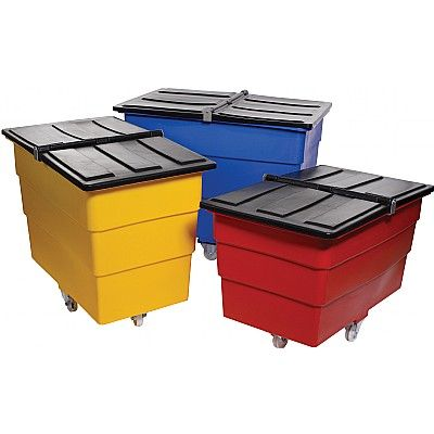 Tidy Trucks - Plastic Waste Container Trucks with Folding Lids