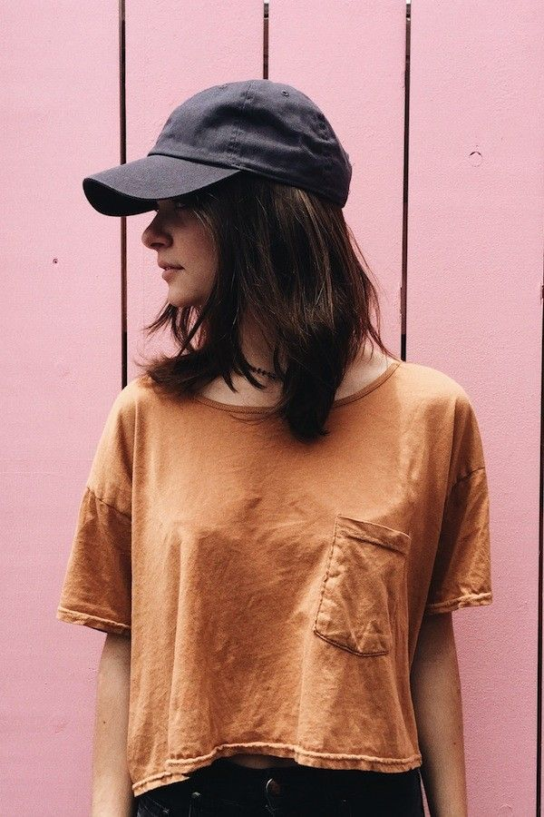 A simple hat like this might work .... Brandy ♥ Melville | Katherine Baseball Cap - Hats & Beanies - Accessories