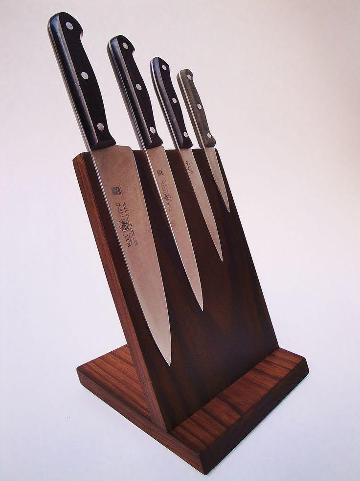magnetic knife block made of NobelWood
