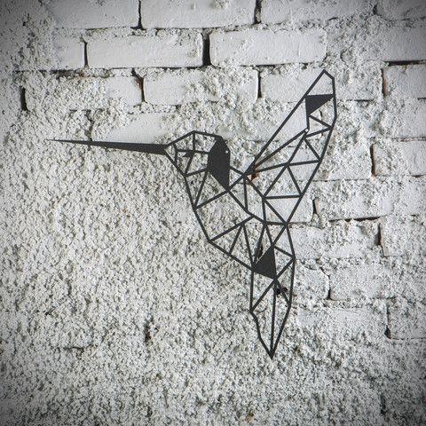 Metal Plaka - Bird ev dekorasyonu,dekorasyon fikirleri,duvar dekorasyonu,iç dekorasyon,ofis dekorasyonu,metal dekoratif ürün,geometrik hayvan figürü,kuş,tasarım,hediye,hediye fikirleri,hediyelik eşya www.hoagard.com