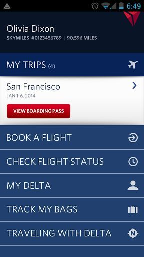 Get ready to experience our completely re-imagined Fly Delta app for Android. We listened to your feedback and added many innovative new features to our award-winning app, including the ability to shop for flights.<p><br>• Find, compare and book Domestic and International flights<br>• Purchase Economy Comfort and other seat products and Trip Extras, including in-flight Wi-Fi, Priority Boarding and more<br>• Rebook cancelled flights or missed connections<br>• Manage your trips, profile and…