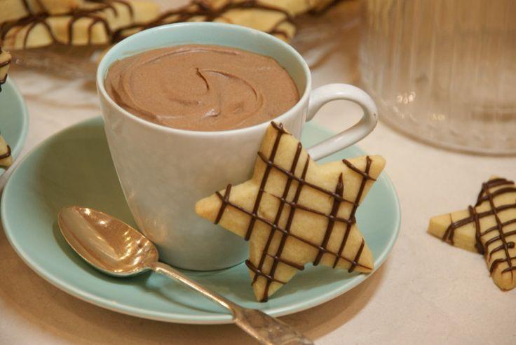 Baileys Chocolate Mousse & Shortbread Stars