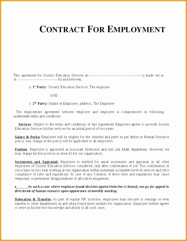 Fresh Free Employment Contract Template South Africa Quote