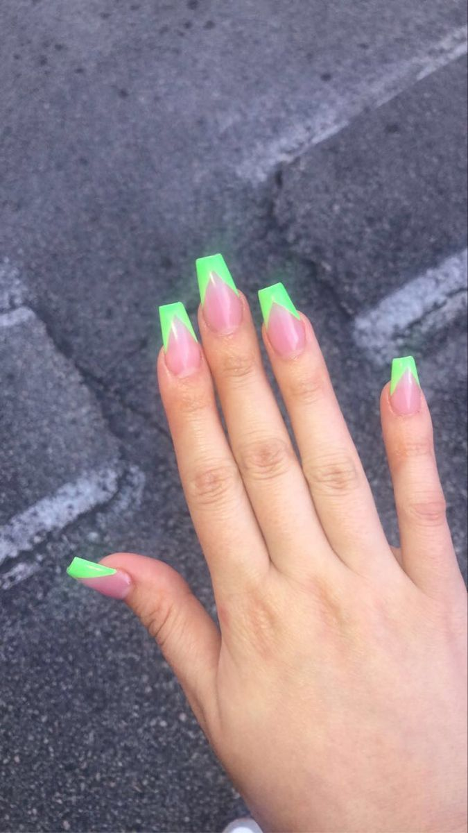 Glow In The Dark Led Light Up Acrylics Summer Acrylic Nails Girls Nails Nails Inspiration