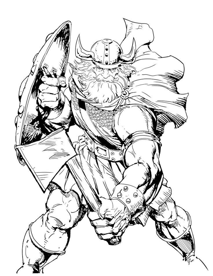 viking coloring pages - Google zoeken | Vikingen, Krijgers ...