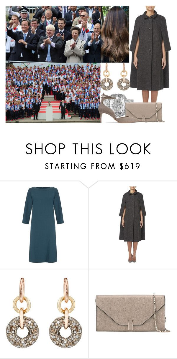 """Attending the London 2012 Victory Parade for Team GB and Paralympics GB athletes with Anne and Edward"" by alexandraofwales ❤ liked on Polyvore featuring Goat, SPINELLI KILCOLLIN, Valextra and Schutz"