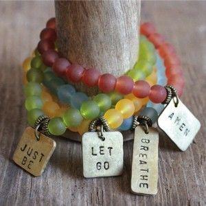 Breathe Bracelet | Amen Bracelet | Just Be Bracelet | Let It Go Bracelet | Message Bracelets | Beaded Bracelets | Bracelets