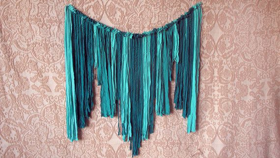 Turquoise party Fabric garland Wedding garland by MoreMDesign