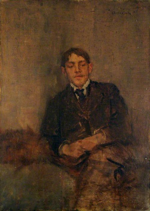 Charles Conder (British, 1868-1909): Self-portrait, c. 1895. Oil on canvas. Tullie House Museum and Art Gallery Trust, Carlisle, Cumbria.