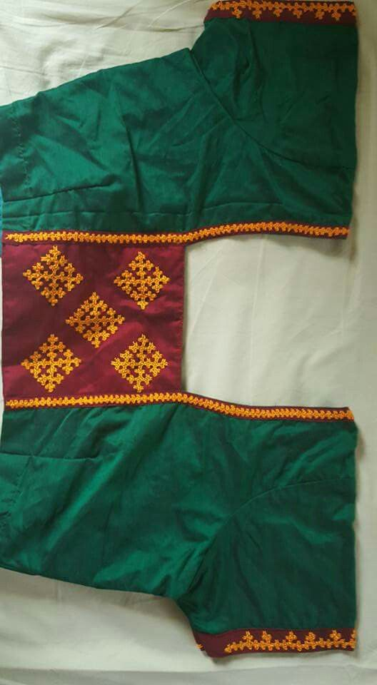 Kutch work on saree blouse                                                                                                                                                                                 More