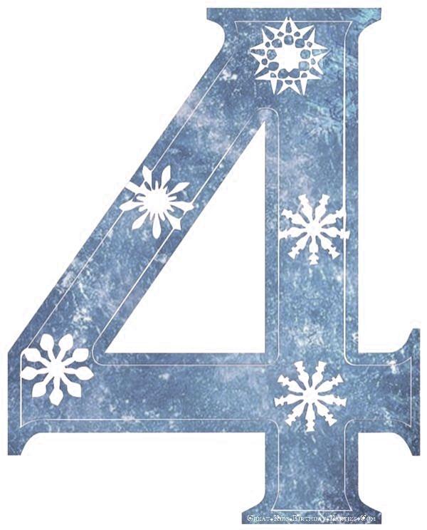 Frozen Font-Snowflake number