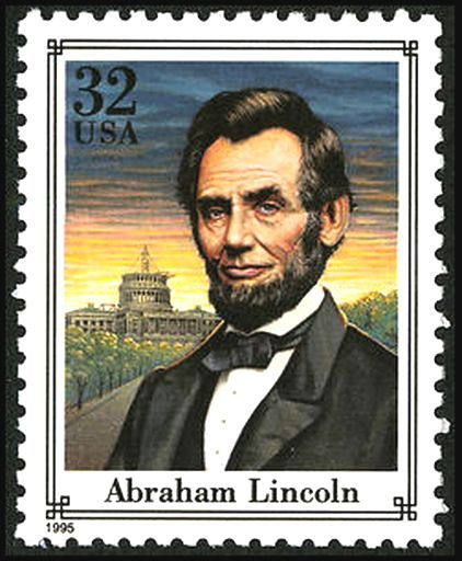 Lincoln 1995 Issue-32c - U.S. presidents on U.S. postage stamps - Wikipedia, the free encyclopedia