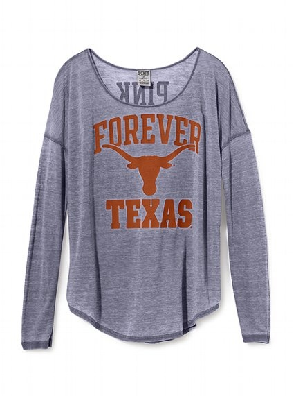 Victoria's Secret PINK University of Texas Long-sleeve Drapey Tee! Adorable!! :)