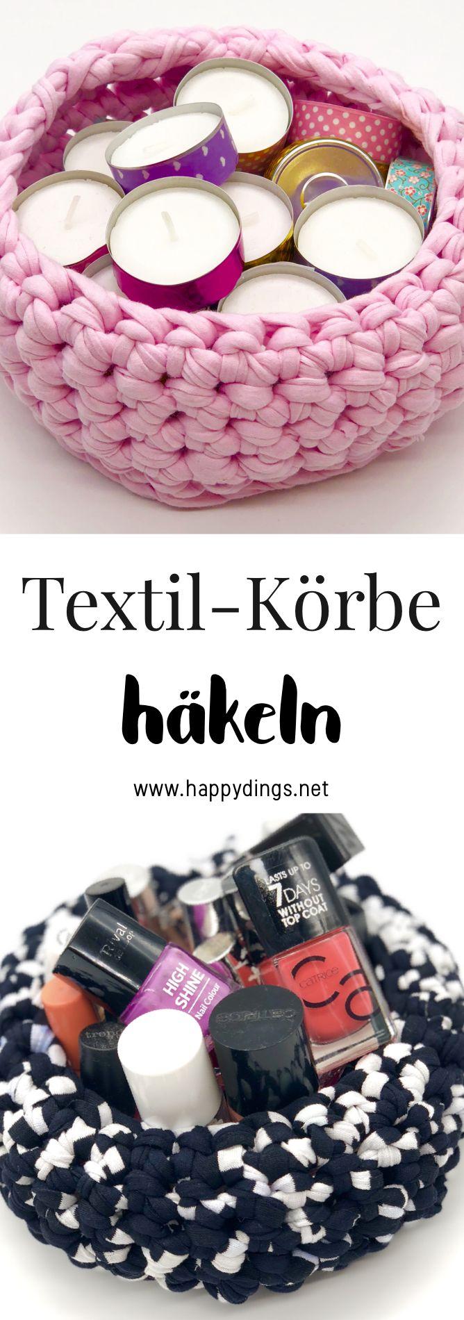 Körbe häkeln als süße Wohnideen und DIY Deko in Zusammenarbeit mit OTTO – Basteln & Selber Machen – DIY