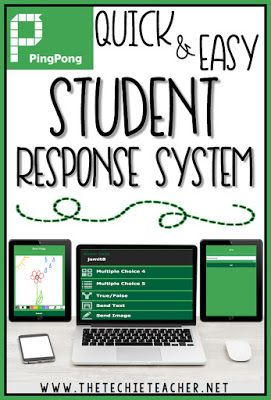 PingPong is an EASY to use student response system that can be used on Chromebooks, laptops, computers and iPads. Multiple choice, True/False, Text and Drawing Images are all ways students can respond to questions. Great digital tool!