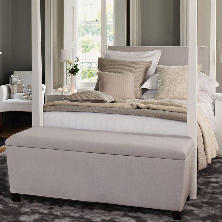 the white company langley ottoman blanket box. Black Bedroom Furniture Sets. Home Design Ideas