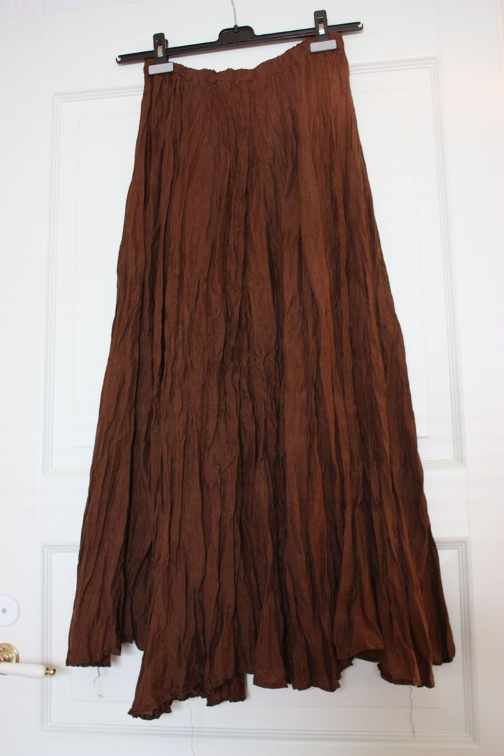 Skirt, long brown