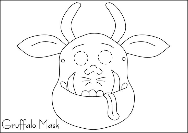 9 best images about gruffalo on pinterest mouse mask for Printable mouse mask template