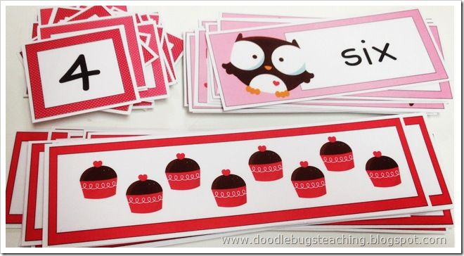 Valentine Number Match - Re-pinned by @PediaStaff – Please Visit http://ht.ly/63sNt for all our pediatric therapy pins