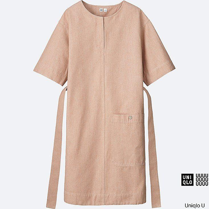 WOMEN Uniqlo U Melange Short Sleeve Sack Dress