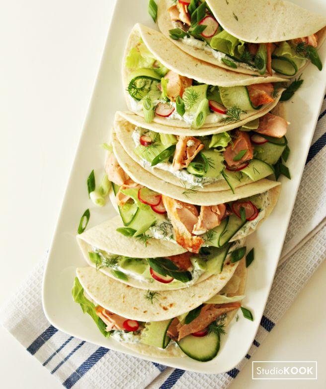Taco's met zalm en dillesaus, wat zijn ze lekker!   StudioKOOK Demi Hageman